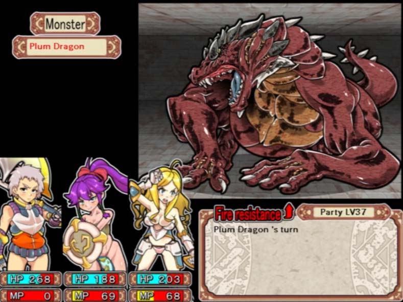 Giant red dragon in dungeon