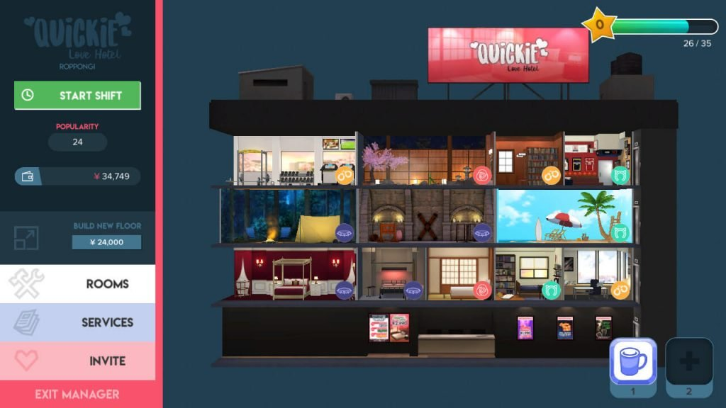 3D love hotel video game