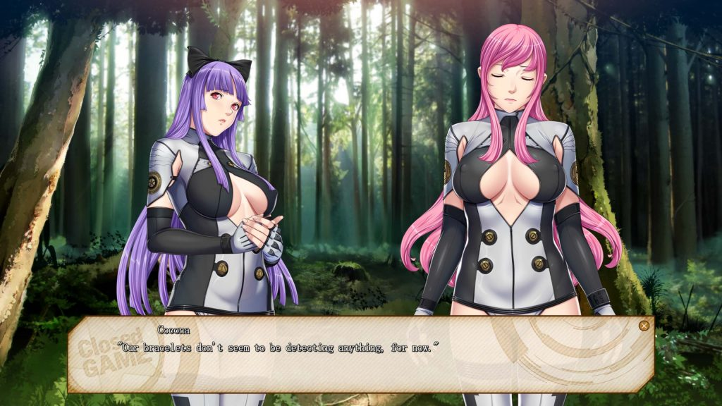 Lacey and Cocona in the forest