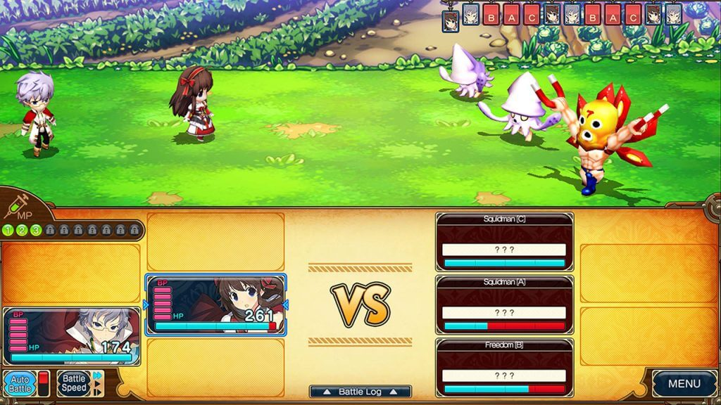 monster combat in Evenicle 2
