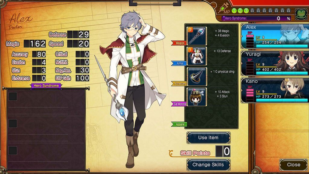 character screen from Evenicle 2