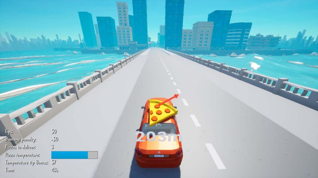 Delivering Pizza in Monolith Bay