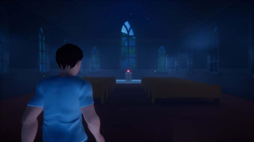 Scary Abandoned Church interior in 3D