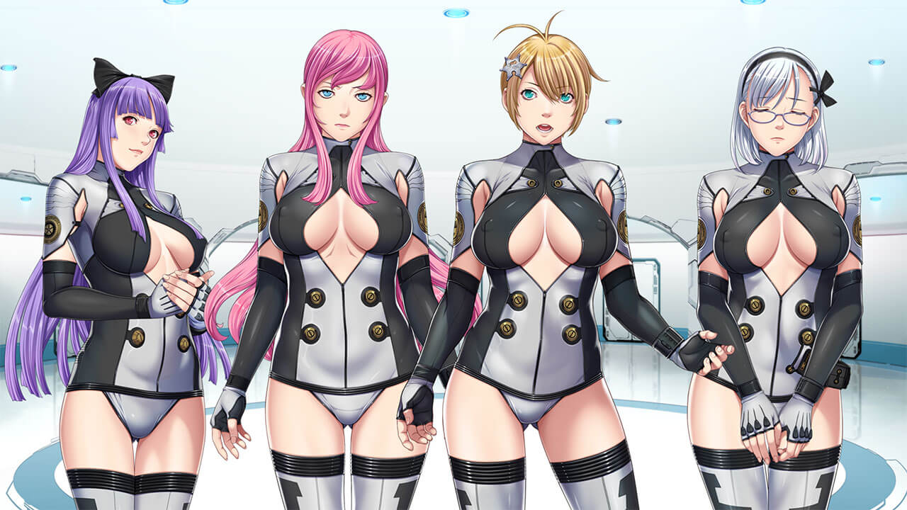 Sexy anime girls wearing sci-fi suits