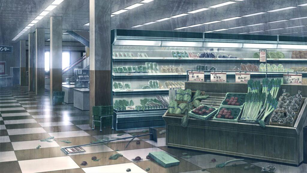 artwork of ruined grocery store